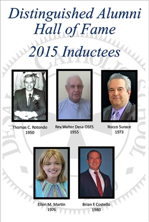 Distinguished Alumni Hall of Fame 2015 Inductees